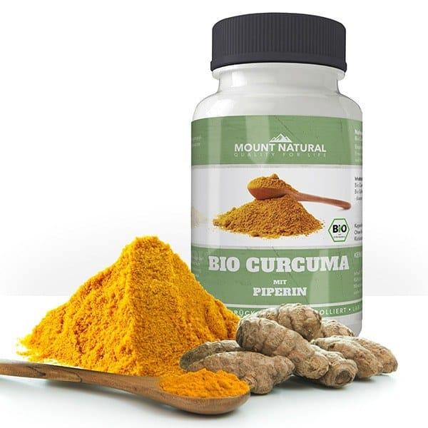 Bio curcuma mit schwarzem Bio-Pfeffer und Piperin Wurzel Bioperine Premium