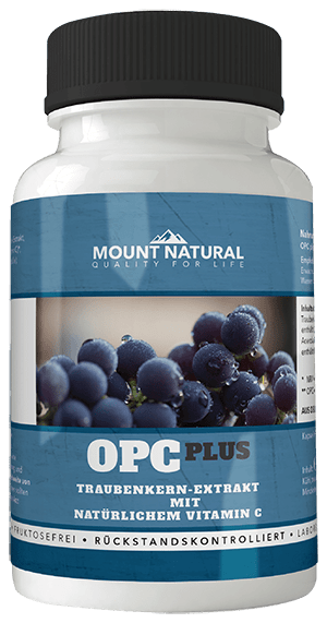 OPC Traubenkernextrakt Trauben plus Piperin Wirkkraft Mount Natural
