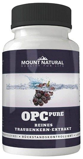 OPC pure pur ohne Zusatzstoffe PCO Trauben Traubenkernextrakt