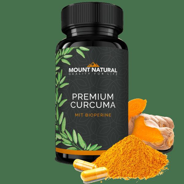 Premium Curcuma Kapseln vegan laborgeprüft gesund rein