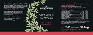 Vitamin B Komplex Label