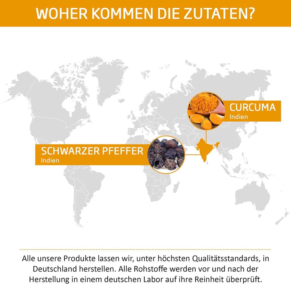 MOUNT NATURAL Premium Curcuma Zutaten Herkunft