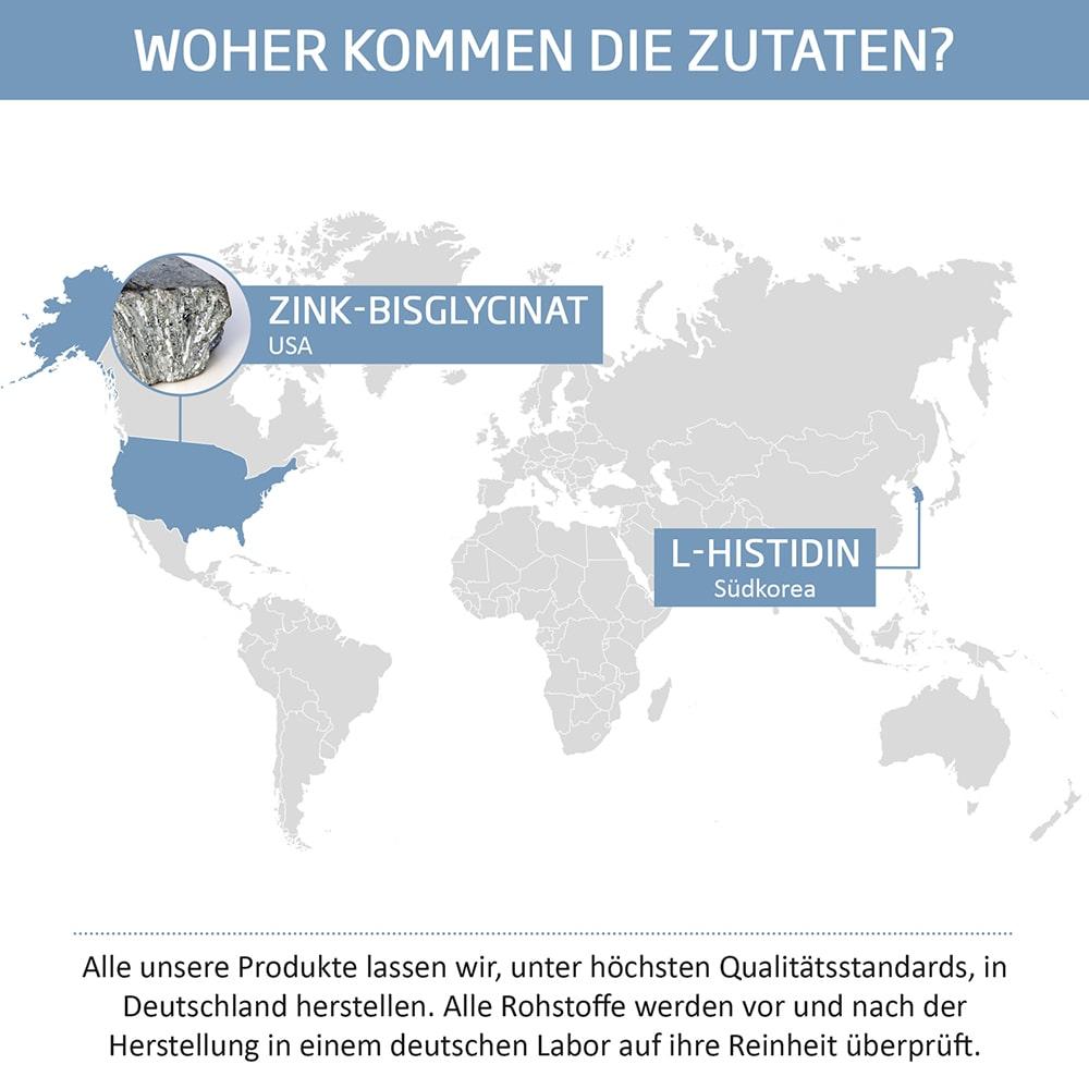 MOUNT NATURAL Premium Zink Zutaten Herkunft