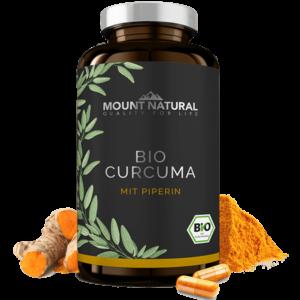 MOUNT NATURAL Produktbild Bio Curcuma mit Piperin