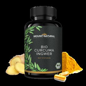 MOUNT NATURAL Bio Curcuma mit Bio Ingwer