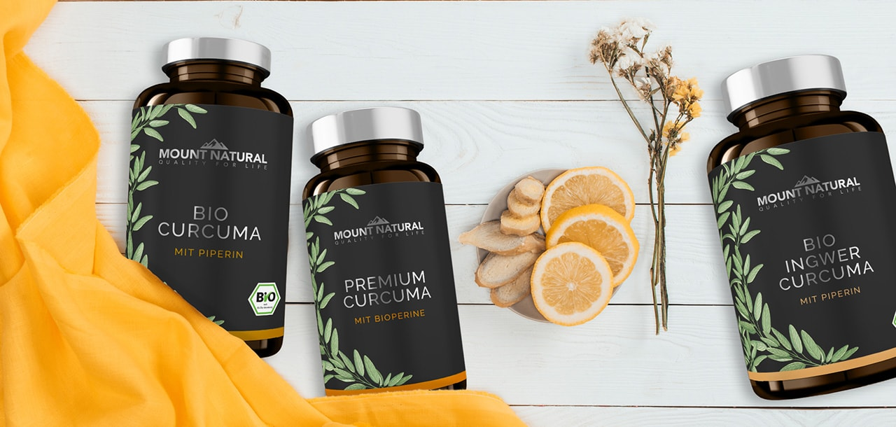 MOUNT NATURAL Banner - Unsere Curcuma Produkte im Vergleich