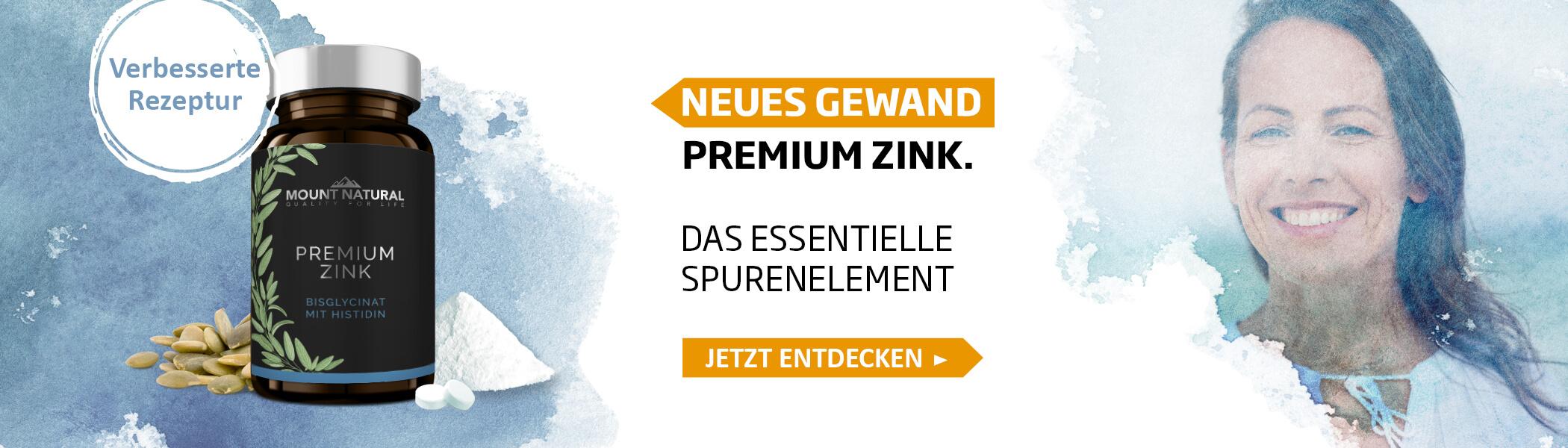 Premium zink verbesserte rezeptur