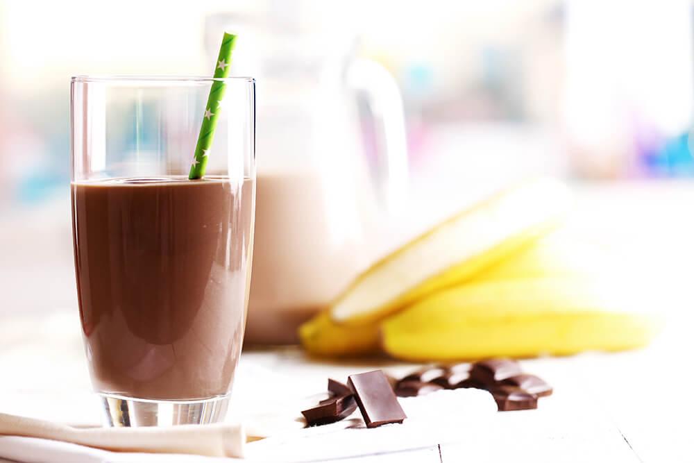 Heiße Schokolade mit Banane