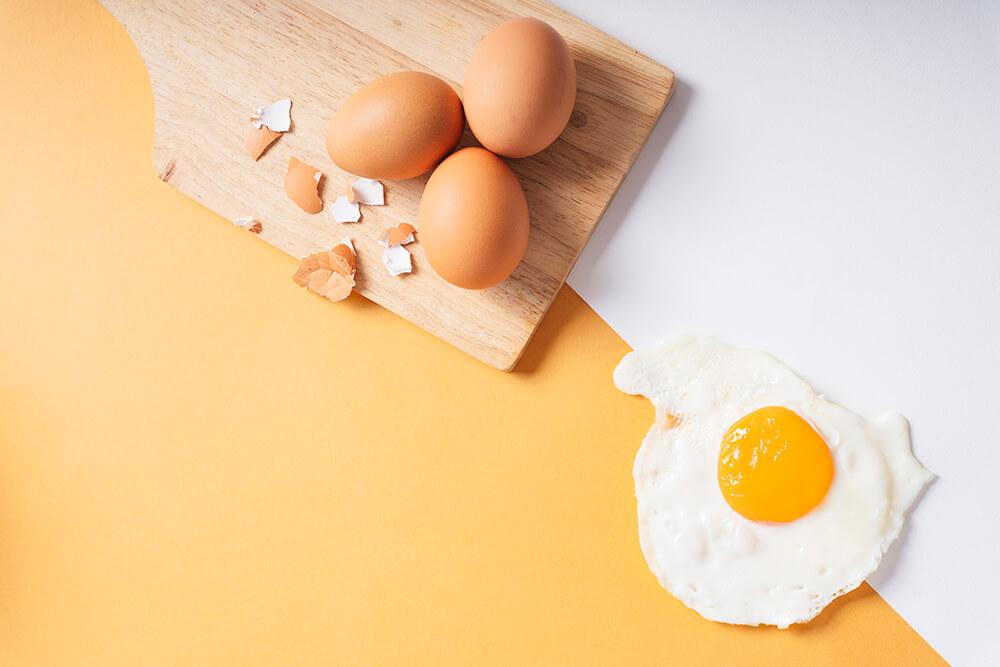 Eier als Cholin-Quelle