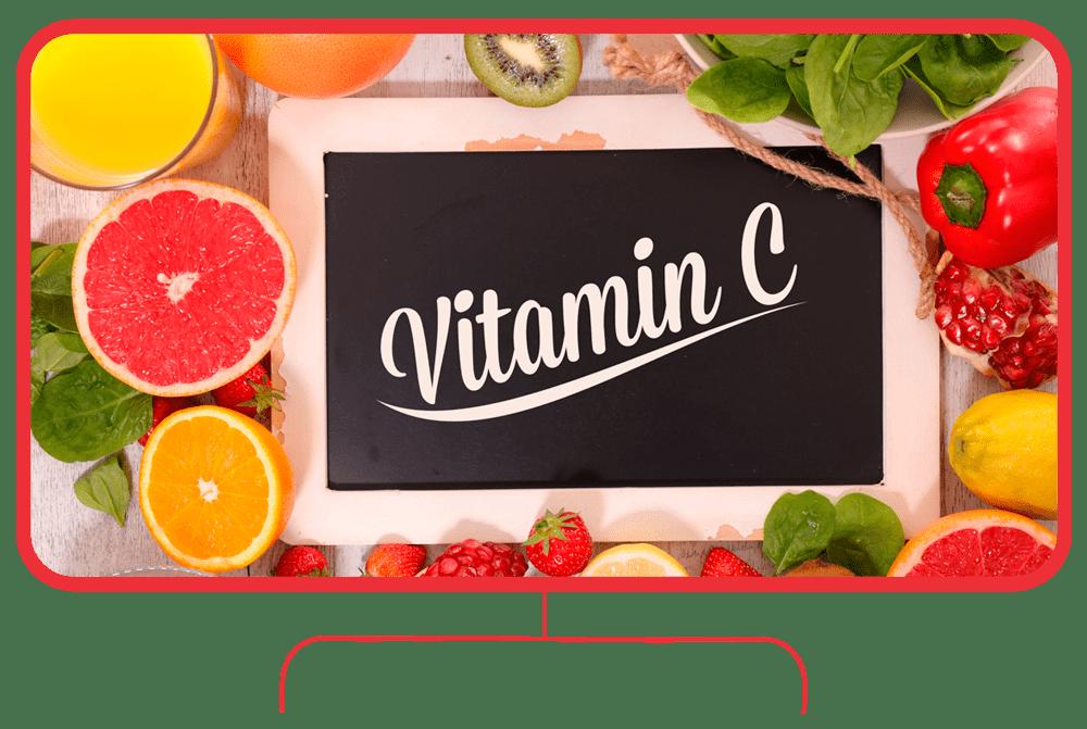 Mount Natural Premium Vitamin C - Banner mit Linien
